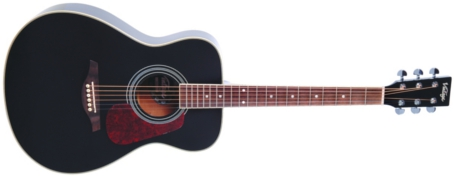 V300BK - FOLK GUITAR, SOLID TOP, BLACK