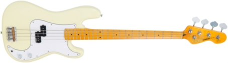 V4MVW - BASS, MAPLE NECK, VINTAGE WHITE