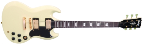 VS6VW - ELEC. GUITAR, WHITE, GOLD HARDWARE
